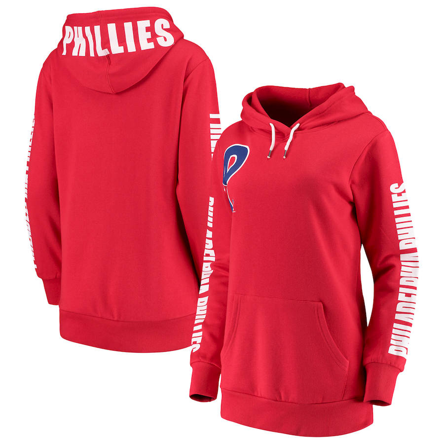 Philadelphia Phillies G III 4Her by Carl Banks Women's 12th Inning Pullover Hoodie Red