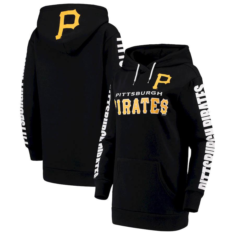 Pittsburgh Pirates G III 4Her by Carl Banks Women's Extra Innings Pullover Hoodie Black