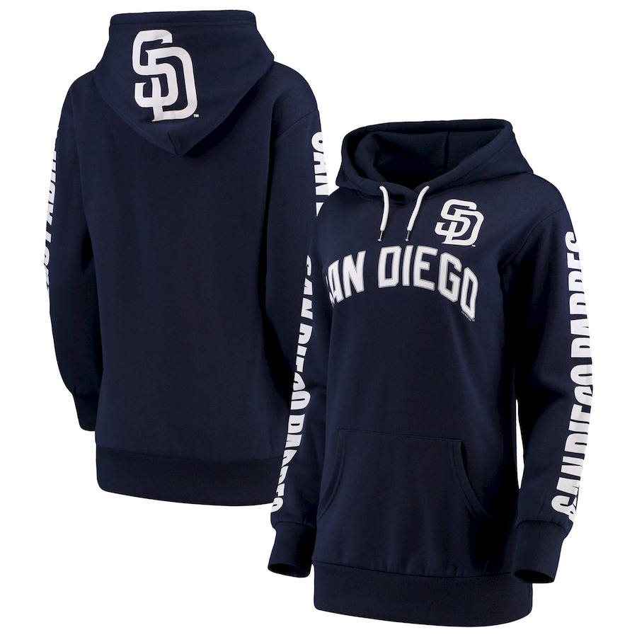 San Diego Padres G III 4Her by Carl Banks Women's Extra Innings Pullover Hoodie Navy