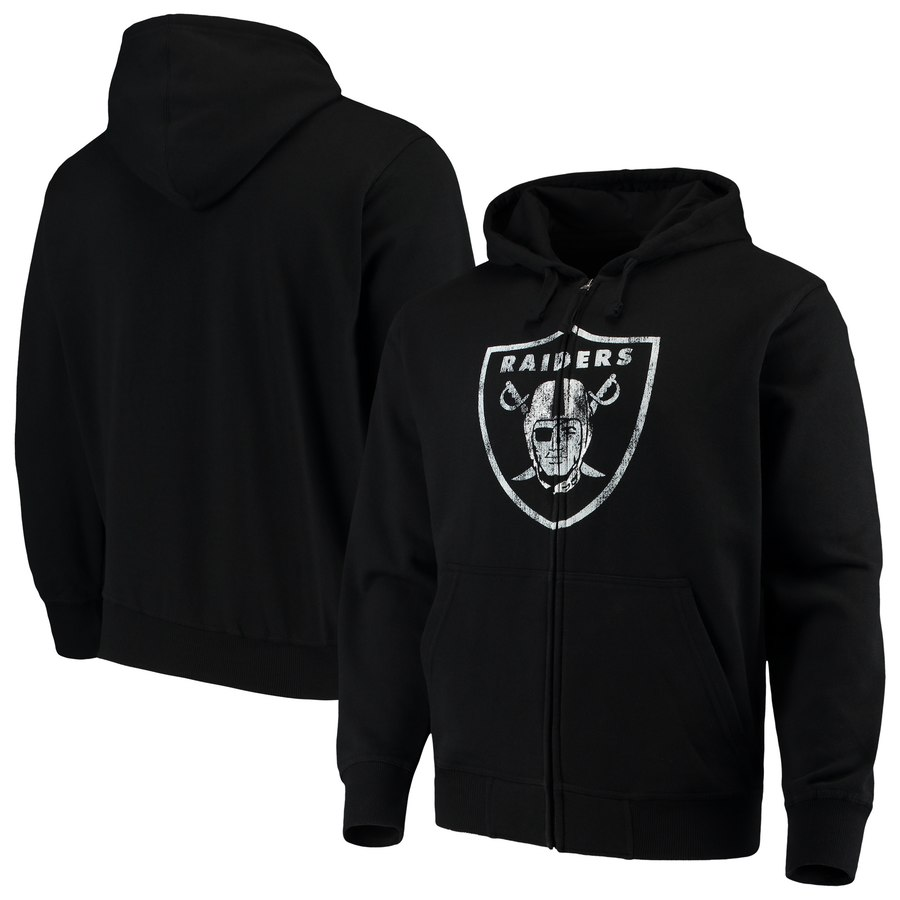 Oakland Raiders G III Sports by Carl Banks Primary Logo Full Zip Hoodie Black