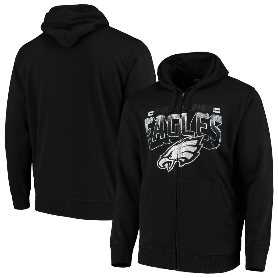 Philadelphia Eagles G III Sports by Carl Banks Perfect Season Full Zip Hoodie Black