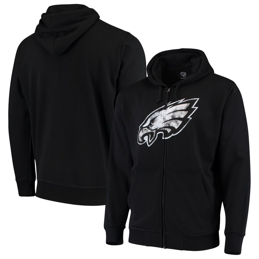 Philadelphia Eagles G III Sports by Carl Banks Primary Logo Full Zip Hoodie Black