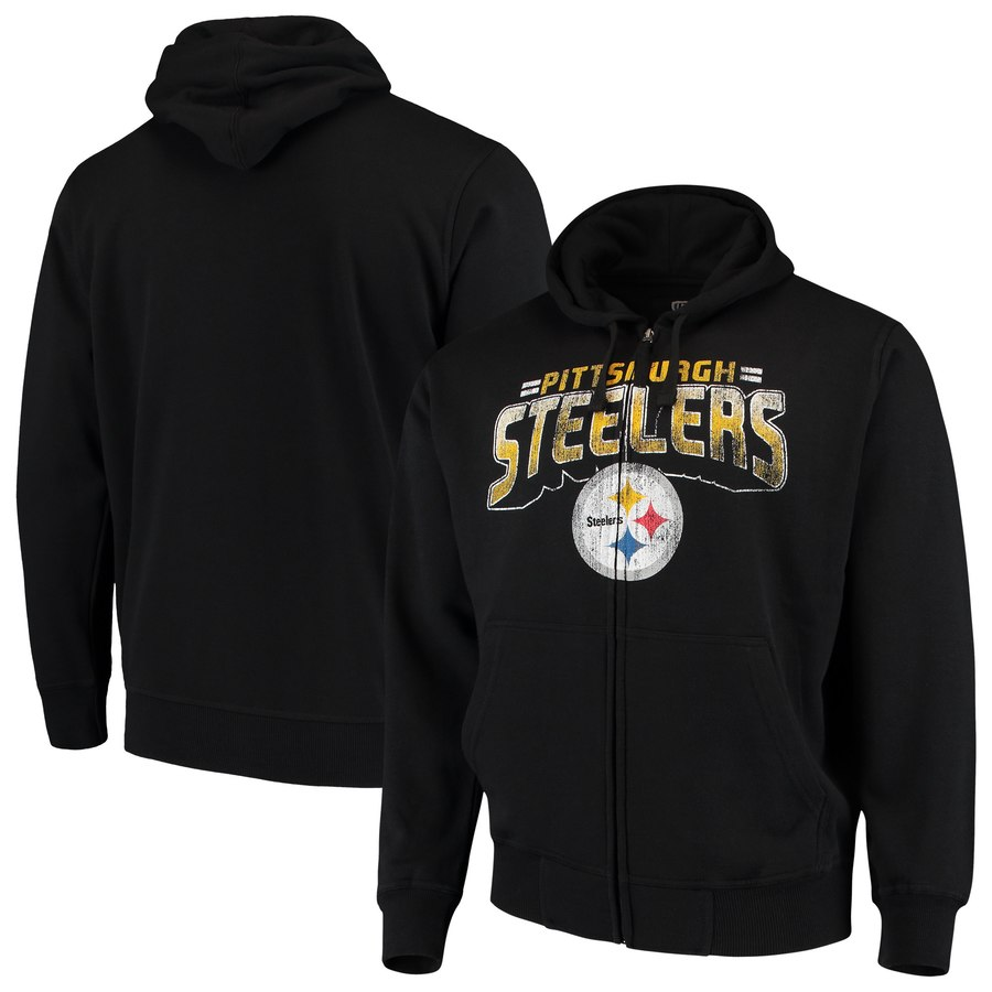 Pittsburgh Steelers G III Sports by Carl Banks Perfect Season Full Zip Hoodie Black