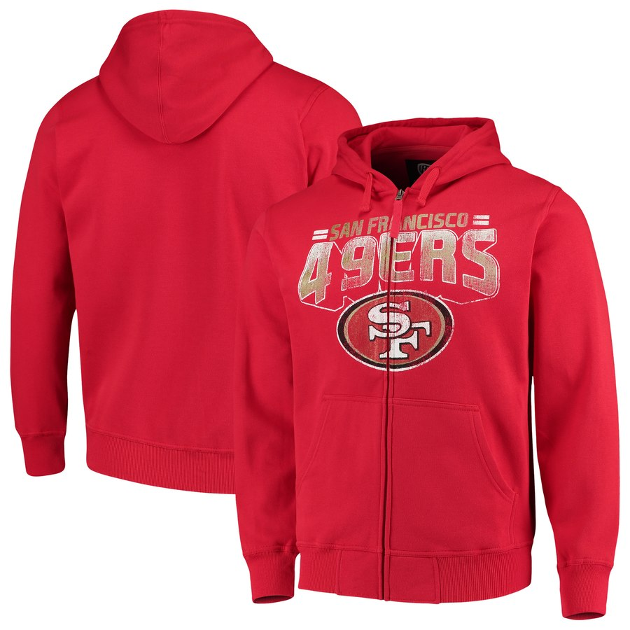 San Francisco 49ers G III Sports by Carl Banks Perfect Season Full Zip Hoodie Scarlet