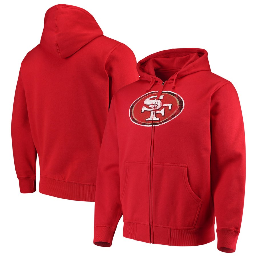 San Francisco 49ers G III Sports by Carl Banks Primary Logo Full Zip Hoodie Scarlet