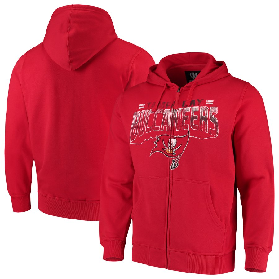 Tampa Bay Buccaneers G III Sports by Carl Banks Perfect Season Full Zip Hoodie Red