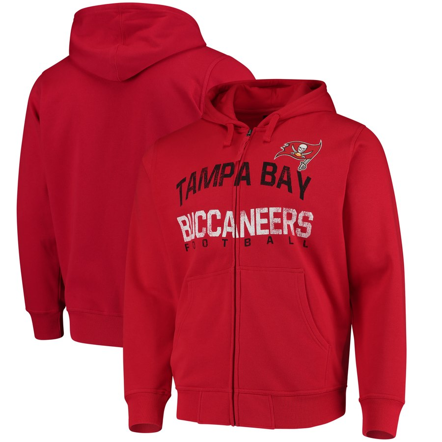 Tampa Bay Buccaneers G III Sports by Carl Banks Post Season Full Zip Hooded Sweatshirt Red