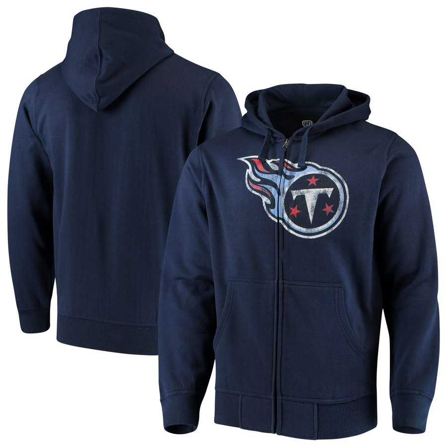 Tennessee Titans G III Sports by Carl Banks Primary Logo Full Zip Hoodie Navy
