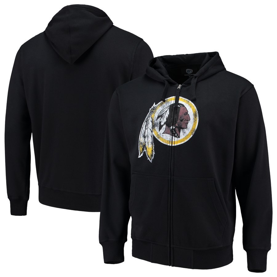 Washington Redskins G III Sports by Carl Banks Primary Logo Full Zip Hoodie Black