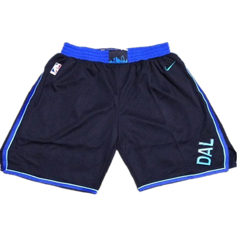 Mavericks Black Nike City Edition Shorts
