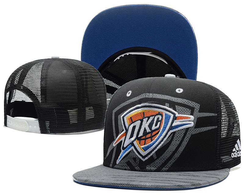 Thunder Team Logo Black Mesh Adjustable Hat GS