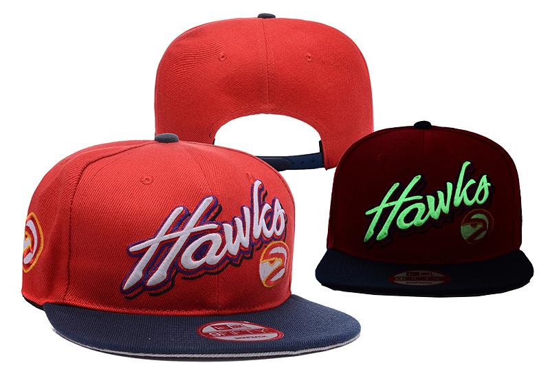 Hawks Team Logo Red Black Adjustable Luminous Hat YD