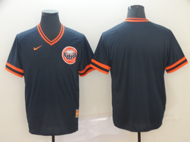 Astros Blank Navy Throwback Jersey