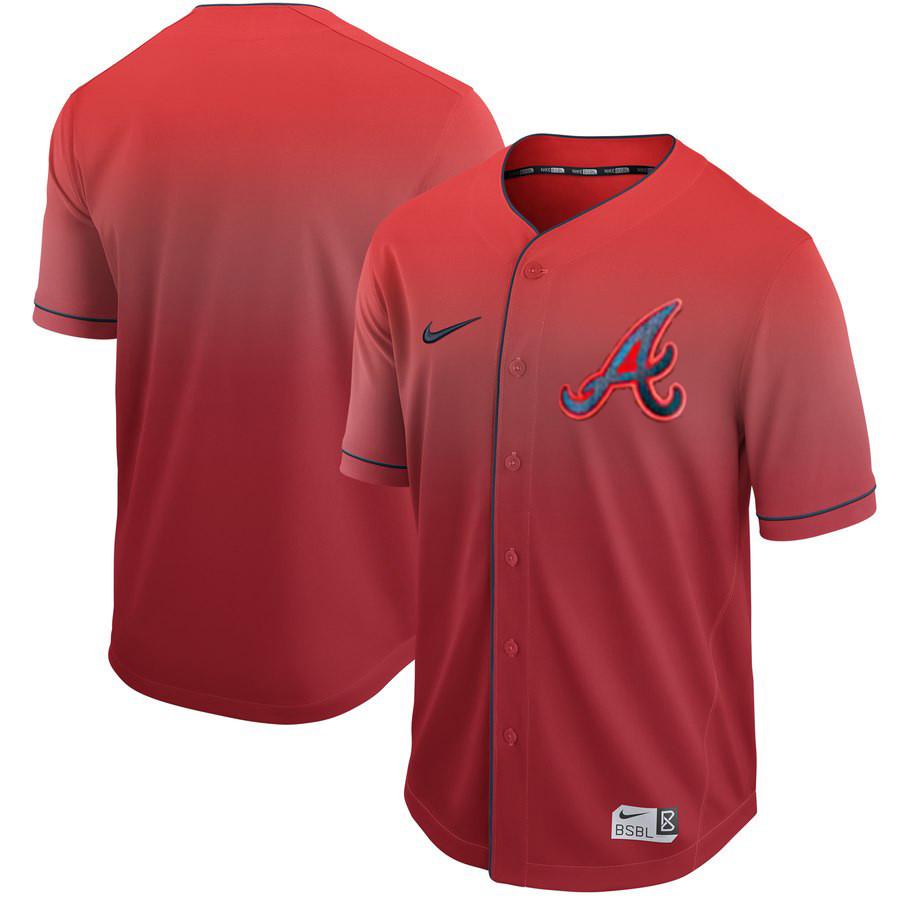 Braves Blank Red Drift Fashion Jersey