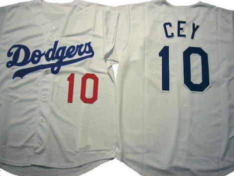 Dodgers 10 Ron Cey Gray Cool Base Jersey