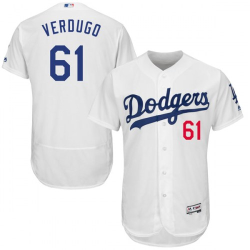 Dodgers 61 Alex Verdugo White Flexbase Jersey