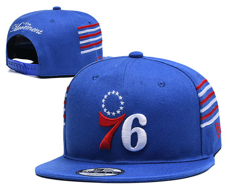 76ers Fresh Logo Blue Adjustable Hat YD
