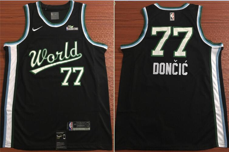 Mavericks 77 Luka Doncic Black 2019 NBA All Star Game Jordan Brand Swingman Jersey