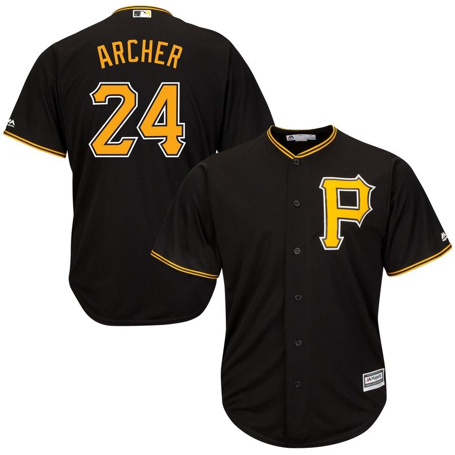 Pirates 24 Chris Archer Black Cool Base Jersey
