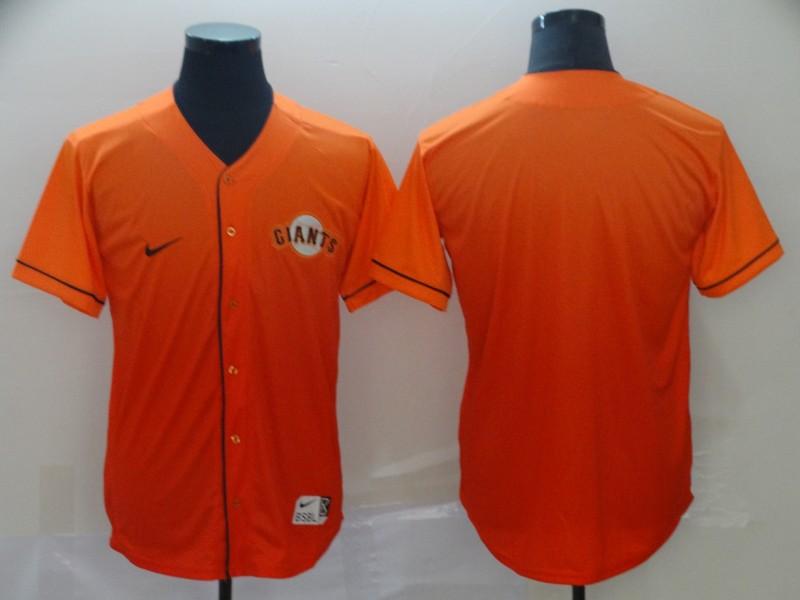 Giants Blank Orange Drift Fashion Jersey