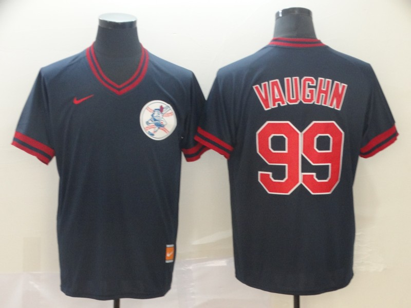 Indians 99 Ricky Vaughn Black Throwback Jersey