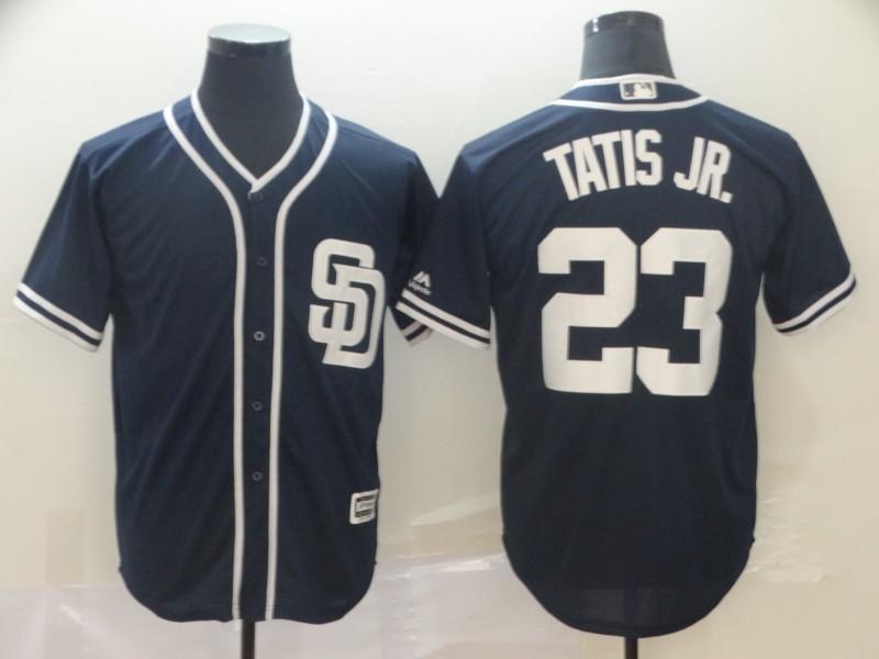 Padres 23 Fernando Tatis Jr. Navy Cool Base Jersey