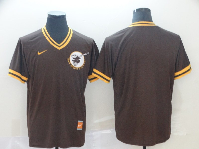 Padres Blank Brown Throwback Jersey