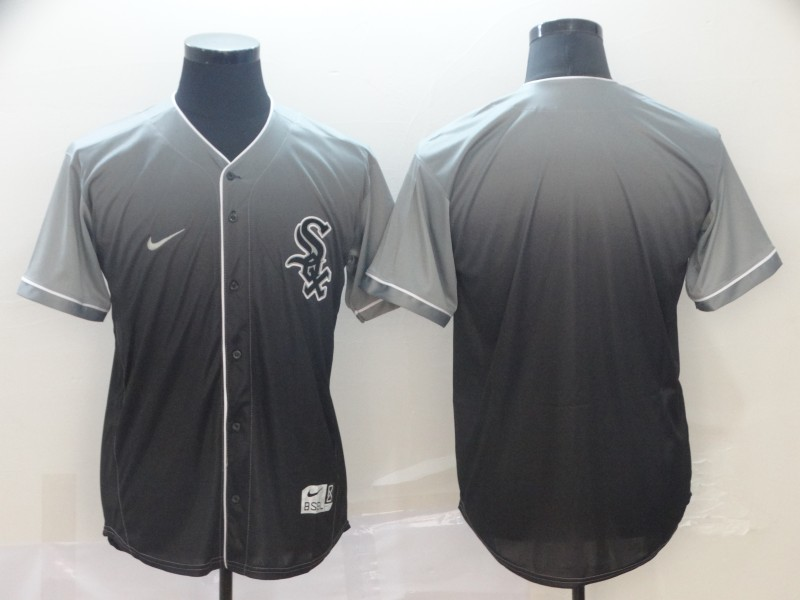White Sox Blank Gray Drift Fashion Jersey