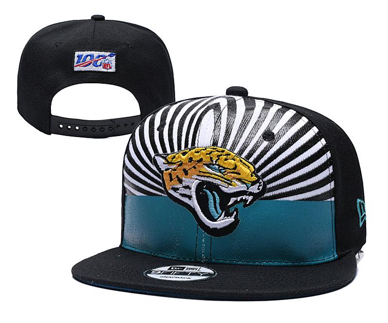 Jaguars Team Logo Black 2019 Draft 100th Season Adjustable Hat YD