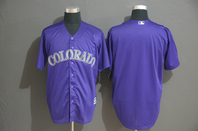 Rockies Blank Purple Cool Base Jersey