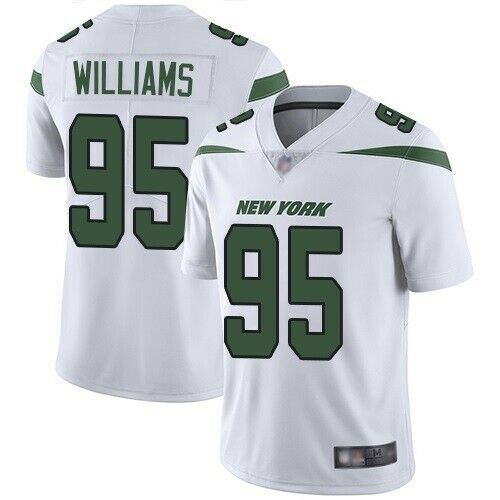 Jets 95 Quinnen Williams White 2019 NFL Draft First Round Pick Vapor Untouchable Limited Jersey