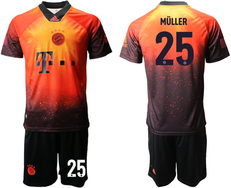 2018-19 Bayern Munich 25 MULLER FIFA Digital Kit Soccer Jersey
