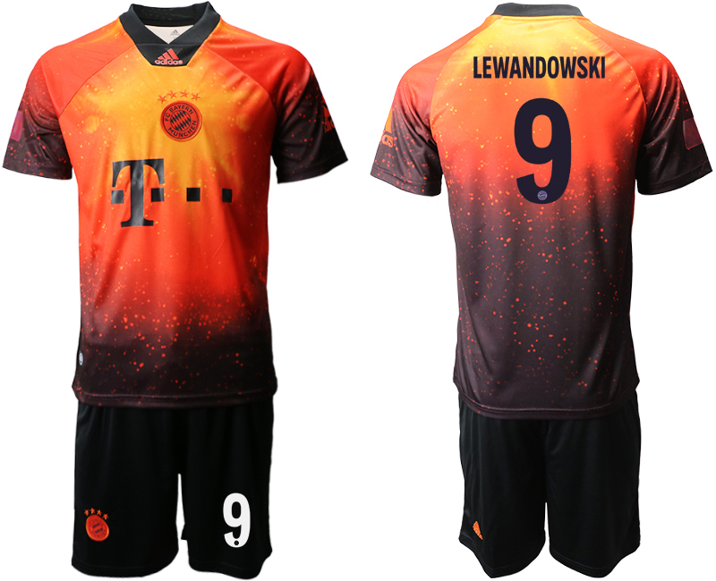2018-19 Bayern Munich 9 LEWANDOWSKI FIFA Digital Kit Soccer Jersey