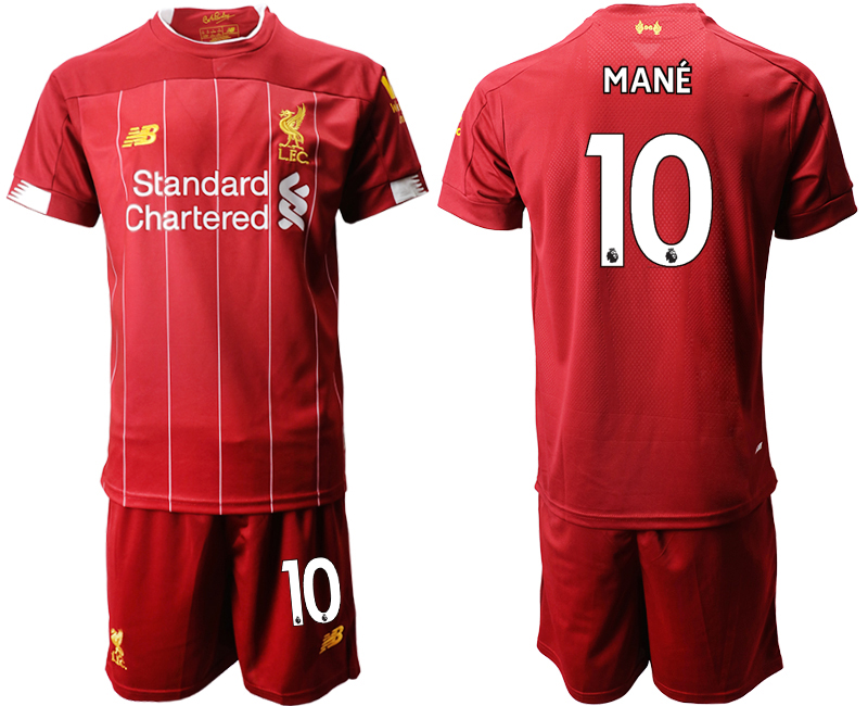 2019-20 Liverpool 10 MANE Home Soccer Jersey