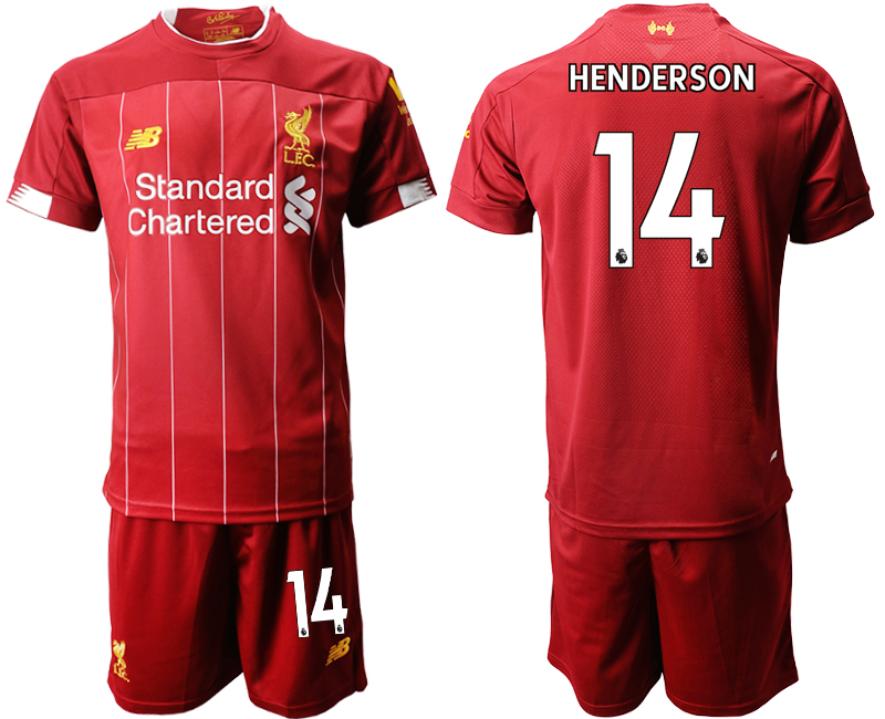 2019-20 Liverpool 14 HENDERSON Home Soccer Jersey
