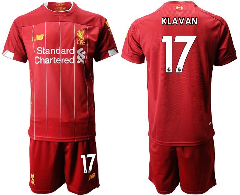 2019-20 Liverpool 17 KLAVAN Home Soccer Jersey