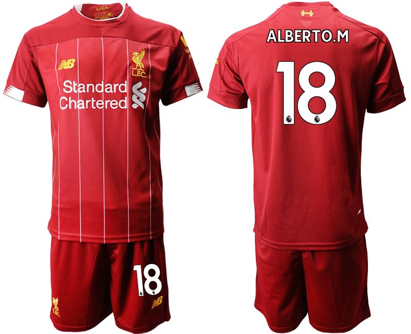 2019-20 Liverpool 18 ALBERTO.M Home Soccer Jersey