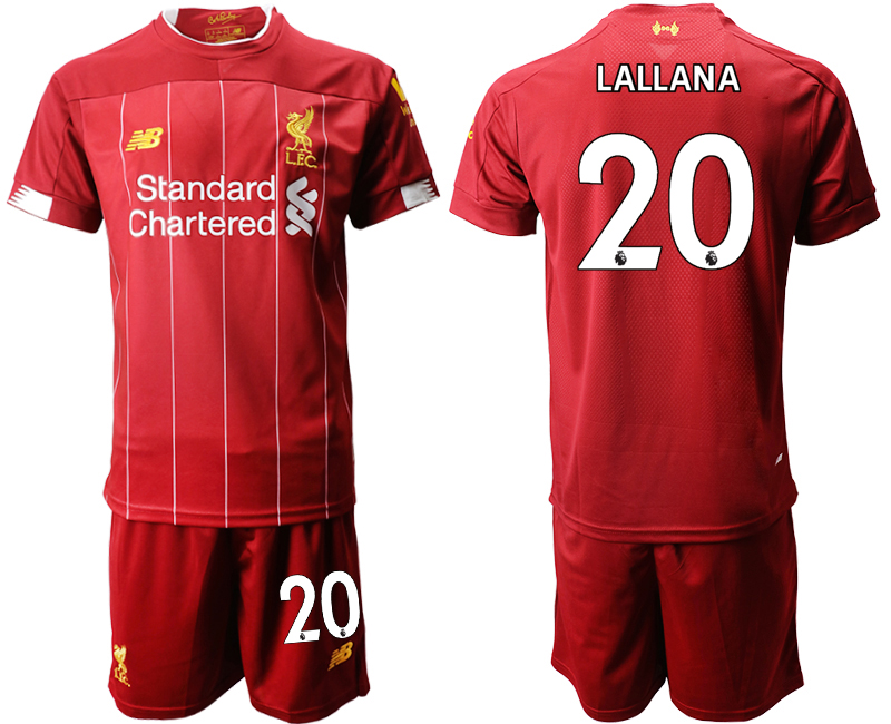 2019-20 Liverpool 20 LALLANA Home Soccer Jersey