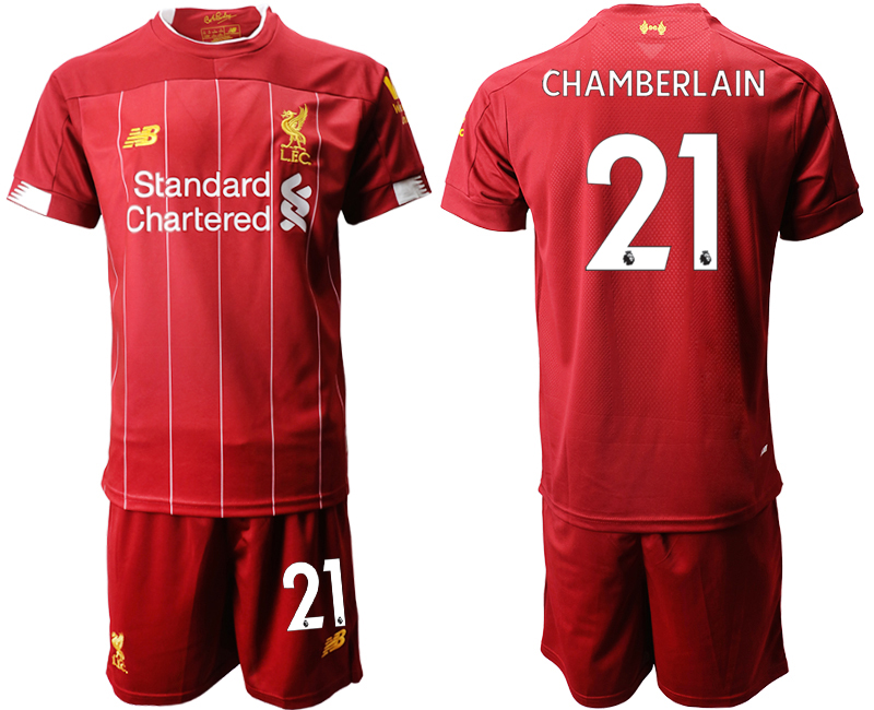 2019-20 Liverpool 21 CHAMBERLANIN Home Soccer Jersey