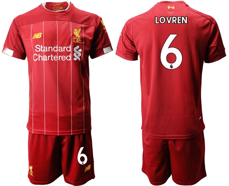 2019-20 Liverpool 6 LOVREN Home Soccer Jersey