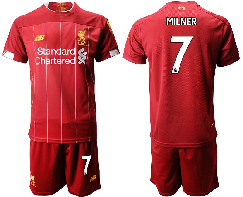 2019-20 Liverpool 7 MILNER Home Soccer Jersey