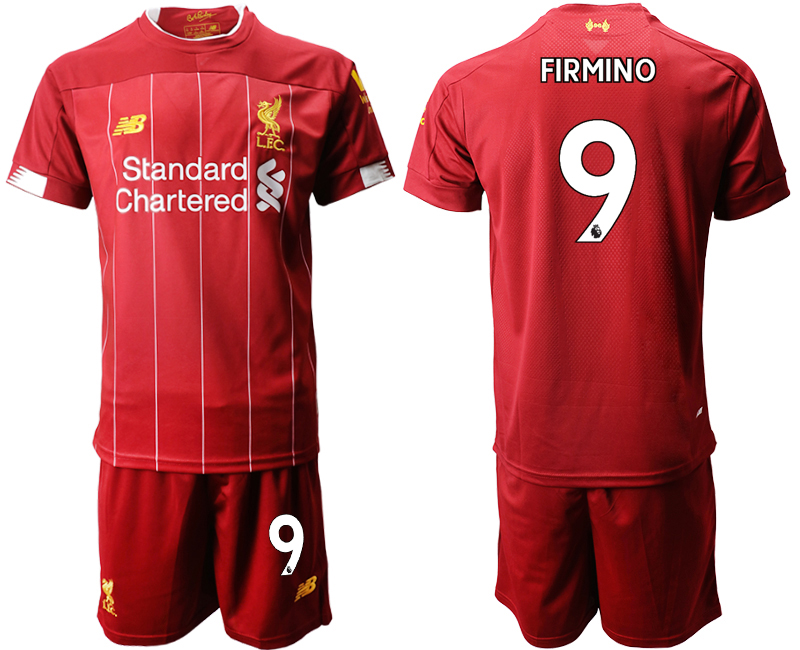 2019-20 Liverpool 9 FIRMINO Home Soccer Jersey
