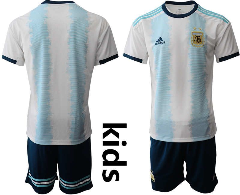 2019-20 Argentina Youth Home Soccer Jersey