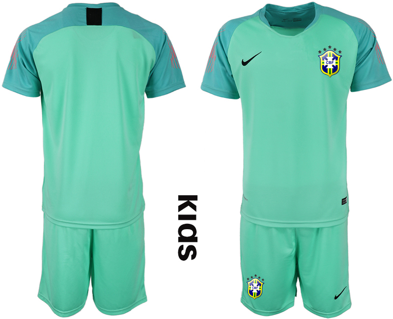 2019-20 Brazil Blue Youth Goalkeeper Soccer Jersey