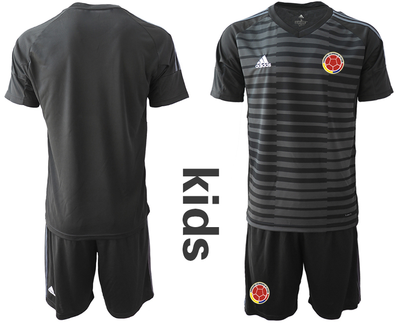 2019-20 Colombia Black Youth Goalkeeper Soccer Jerseys