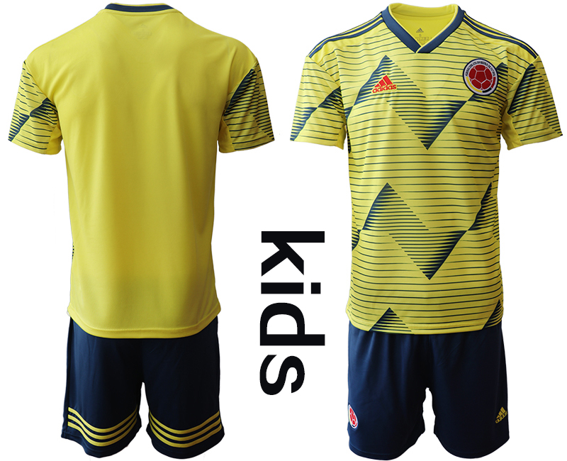 2019-20 Colombia Youth Home Soccer Jersey