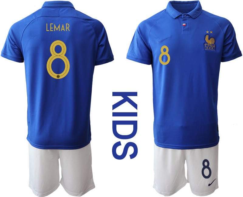 2019-20 France 8 LEMAR Youth Centenary Edition Soccer Jersey