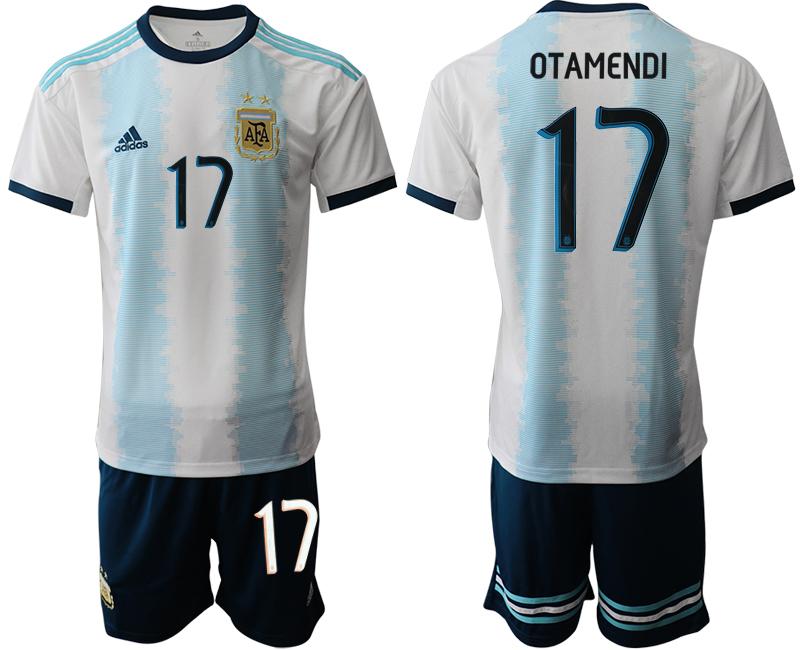 2019-20 Argentina 17 OTAMENDI Home Soccer Jersey