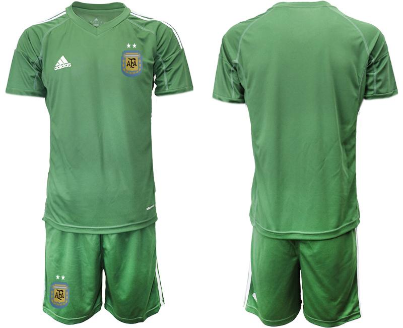 2019-20 Argentina Army Green Goalkeeper Soccer Jersey