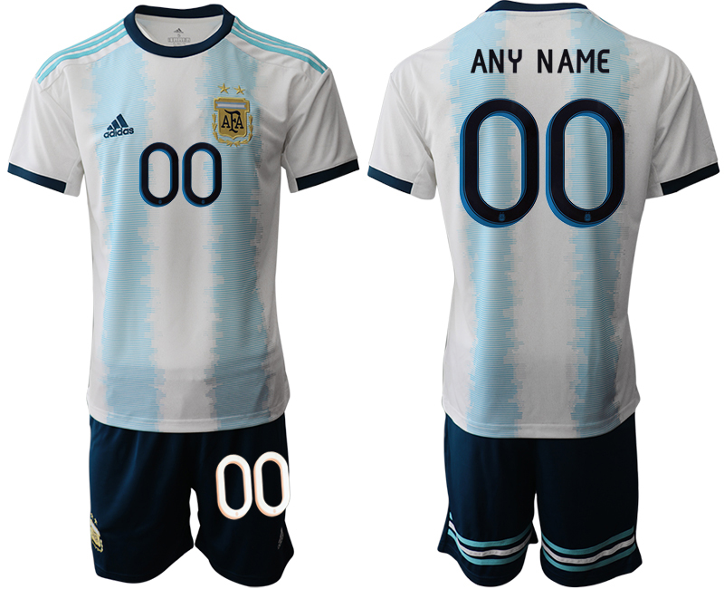 2019-20 Argentina Customized Home Soccer Jersey